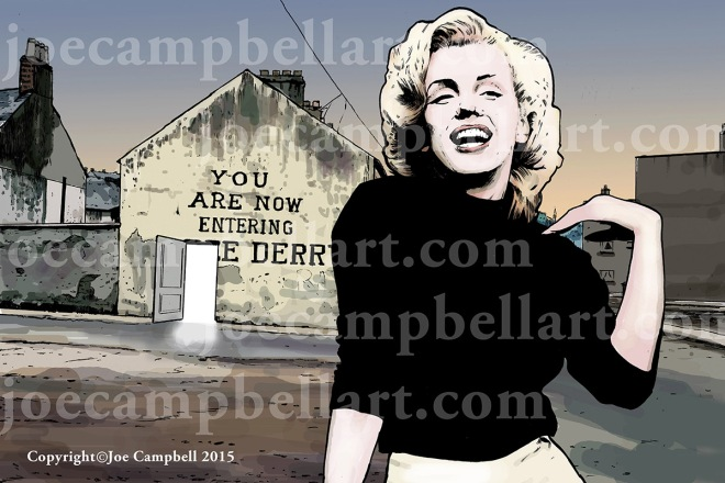 Marilyn at Free Derry Lighter