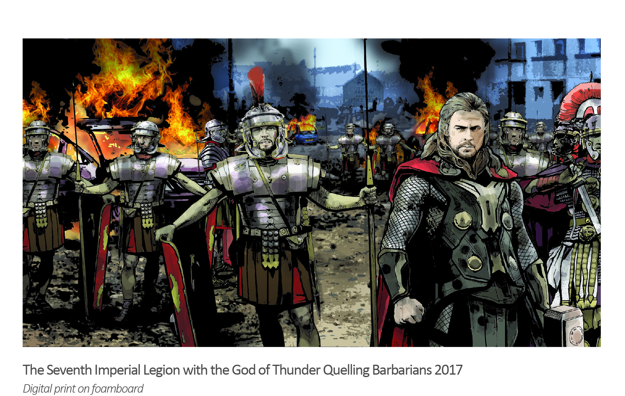The Seventh Legion with Thor Quelling Barbarians